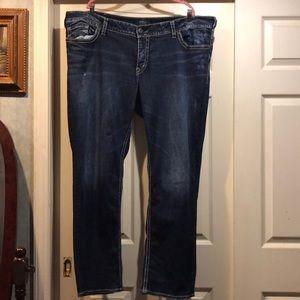 Silver jeans size 24